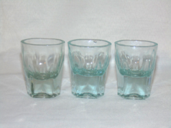 Világoskék vastagfalú likőrös poharak