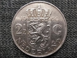 Hollandia I. Julianna (1948-1980) .720 ezüst 2.5 Gulden 1960 (id43805)
