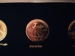 $10 Indian  - legszebb amerikai érmék, ⌀ 39 mm, aranyozott replika