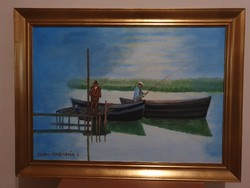 Csáki-Maronyák József: Horgászok