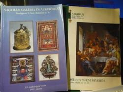 Műtárgy-, festmény-, aukciós katalógusok (2 db)