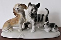 """Lippelsdorfl """" Barátság"""" porcelán figura csoport, nagyon ritka"""