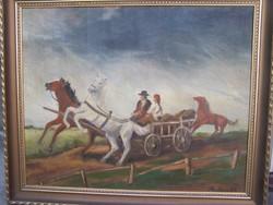 Reprodukált: Rudnay  Gyula: Lovasszekér, 1954