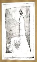 Ligeti Miklós: Egészen kicsi madár, 2002 - keretezett rézkarc, VII/VII