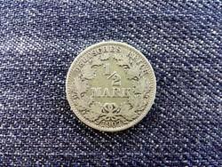 Németország Második Birodalom (1871-1918) .900 ezüst 1/2 Márka 1907 A (id14041)