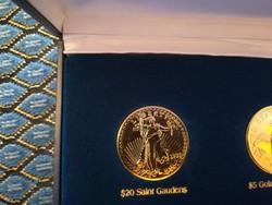 $20 Saint Gaudens    - legszebb amerikai érmék, ⌀ 39 mm, aranyozott replika