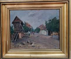 Csallóközi Farkas Lőrinc (1898-1966 )  / Tata (Tóváros 937) c festménye Eredeti Garanciával