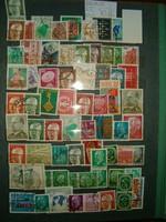 70 darab német bélyeg lot régiek újak kasznált NSZK DDR bundespost stb KIÁRUSÍTÁS 1 forintról