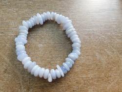 Eredeti természetes kalcedon karkötő  18-19cm