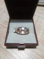 Jelzett  Széles Karika Ezüst Gyűrű