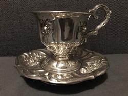 Antik Bécsi ezüst teáscsésze ! 1880