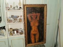 Czóbel Béla szignóval olaj festmény