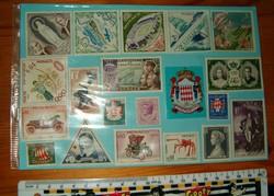 19 darab Monaco bélyeg lot ha jól látom valamiylen ünnepi postatiszta kiadás KIÁRUSÍTÁS 1 forintról
