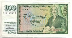 100 kronur 1961 mars 29.  Izland