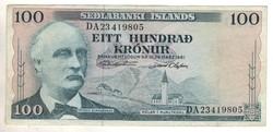 100 kronur 1961 marz 29.  Izland