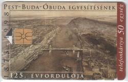 Magyar telefonkártya 0306  1998  Budapest születése GEM 1     97.500 Db-os