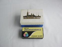 Retro szovjet diaszkóp dia nézegető eredeti dobozában + képekkel
