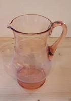 Üvegkancsó, fújt rózsaszínű üvegkancsó