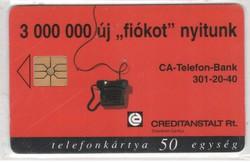 Magyar telefonkártya 0320  1996 Creditanstalt      100.000 Db-os