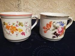 Eladó régi porcelán Cseh virágos fél literes bögrék!