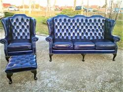 Gyönyörű chesterfield Queen Anne stílusú ülőgarnitúra