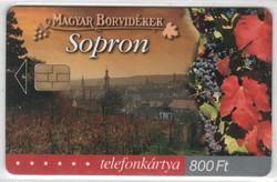 Magyar telefonkártya 0323  2002    Magyar borvidékek Sopron   30.000 Db-os