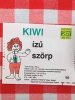 Retro üdítős szörpös üvegcímke - Kiwi izű üditő - Zengő Gyöngye MGTSZ - Bogád MSZ