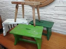 4 db kis sámli,.szék, fejőszék