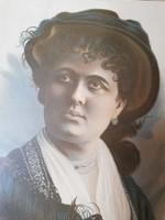 1880 Blaháné Lívia kőnyomatos portréja
