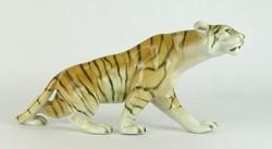 0L579 Régi jelzett Royal Dux porcelán tigris 35 cm