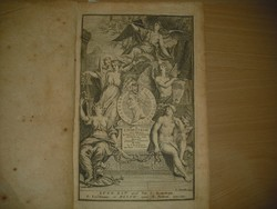 Eredeti Antik könyv: C. Julii Caesaris latin nyelvű könyv 1713 - ból