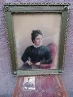 Strelinsky 1897 női portré színezett fotó