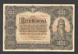 1000 korona 1920. EF!! GYÖNYÖRŰ!! RITKA!!