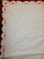 Antik  hímzett szegéllyel  párna huzat 65 cm X 91 cm