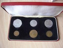 Bailiwick of Guernsey érme szett 1971 UNC  - kemény, bélelt tartóban