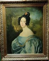 Fiatal nő portréja, Barabás Miklós