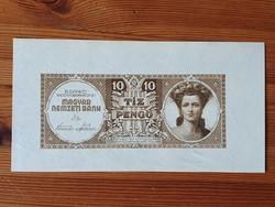 MNB 10 Pengő 1943 bankjegy tervezet.
