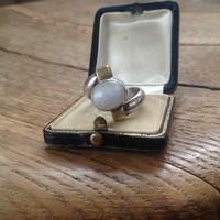 Különleges szivárvány holdköves ezüst gyűrű