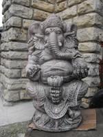 Kő Ganésa  Indiai Thai Keleti Feng Shui kertépítő szobor Buddha sorozatból