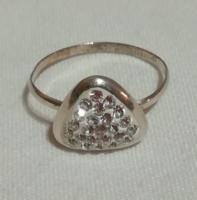 Susi részére ! Swarovski köves női  ezüst gyűrű .19mm belső átm.