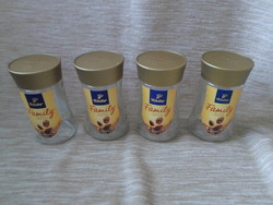 Kávésüvegek tetővel tároláshoz (Tchibo kávé, üveg) 2.