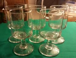 5 darab likőrös,boros talpas pohár
