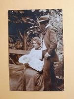 Antik levelezőlap - fotó képeslap, 1904