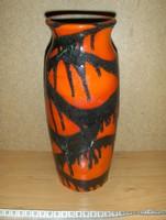 Retro iparművész csurgatott kerámia váza 25 cm (g)