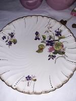 Ritka,ibolyás dekorral Sarreguemines tányér