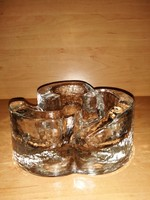 Vintage művészi üveg melegen tartó glas kunstvoll gestaltet  2,22 kg (n)