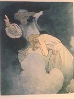 Alfons Mucha a szecesszió koronázatlan királya (1860-1939) múzeumi litográfia