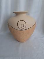 Kerámia váza,  amfóra jellegű, pasztel szín, nagy méretű