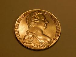 Ezüst  tallér Mária Terézia 1780 utánveret  - ingyenes posta