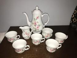 Wunsiedel Bavaria porcelán kávés / teás készlet hiányos virág mintás